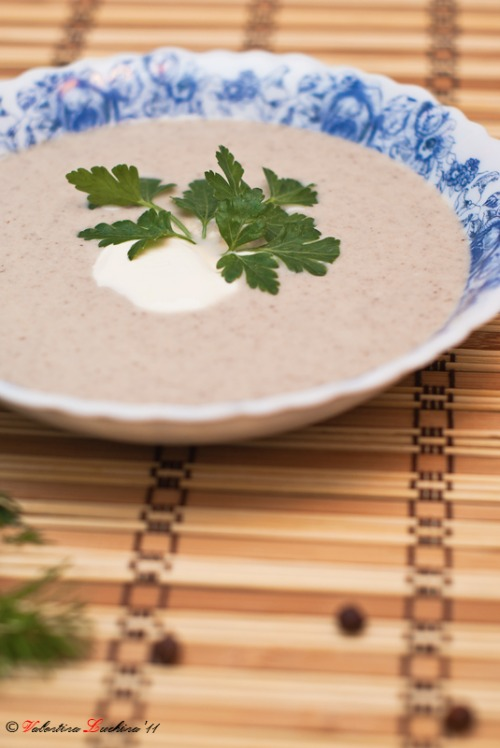 Суп-пюре грибний