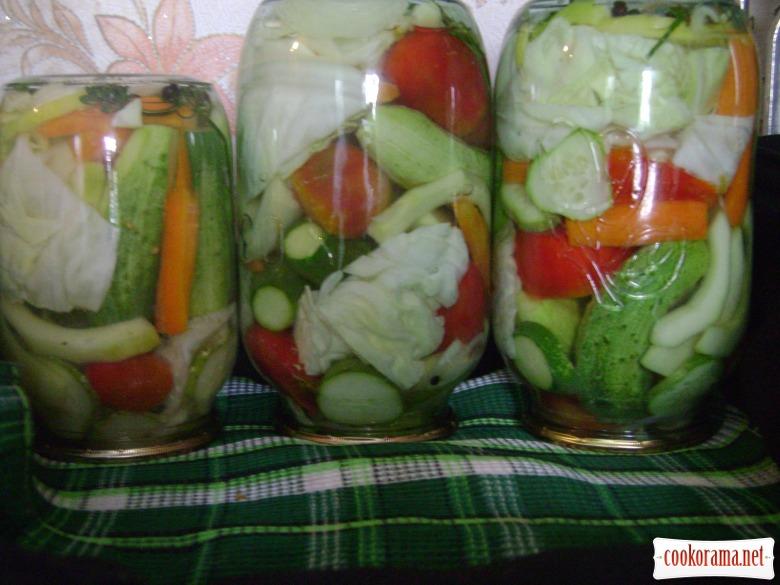 Ассорти огород на зиму рецепт с фото