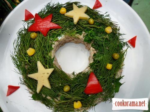 Салат «Різдвяний вінок»