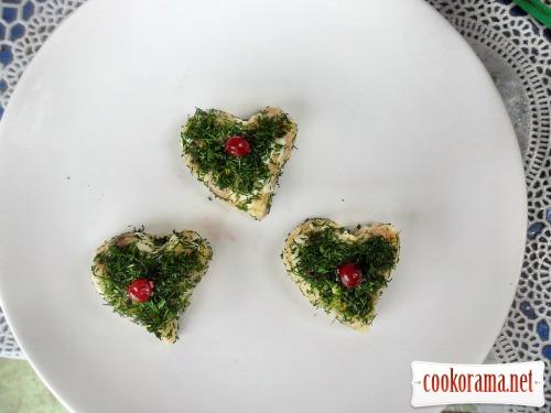 Закуска «Оселедець романтичний»