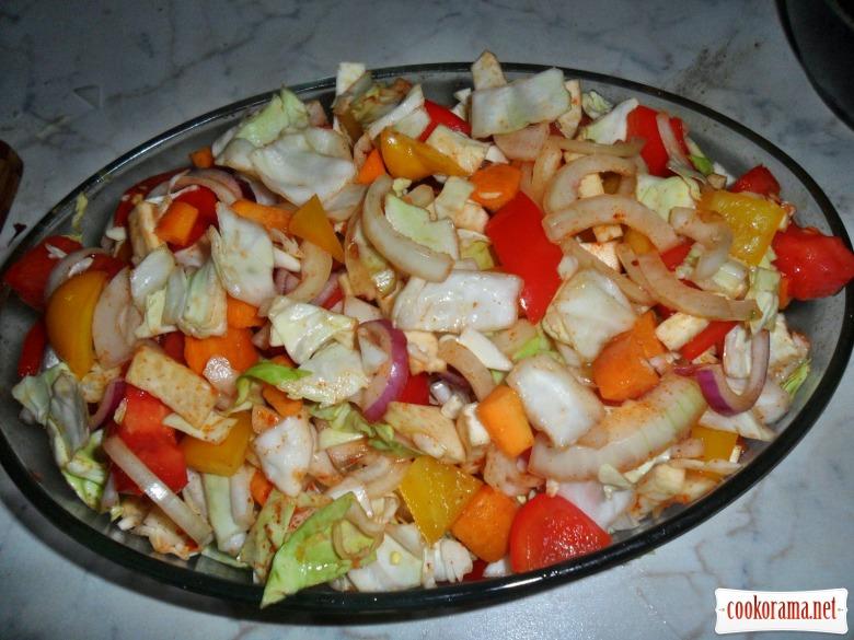 Подварак.(Балканское блюдо из индейки с овощами.)