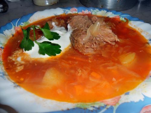 Російські щі - рецепт з яловичиною та кислою капустою