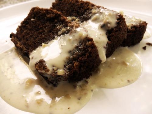 Шоколадный кекс с ореховым кремом