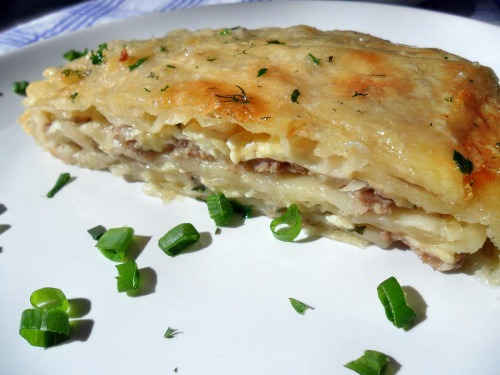 Бурек по-сербски (с мясом и сыром)