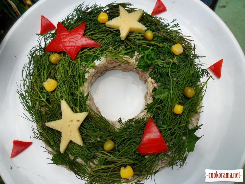 """Салат """"Різдвяний вінок"""""""