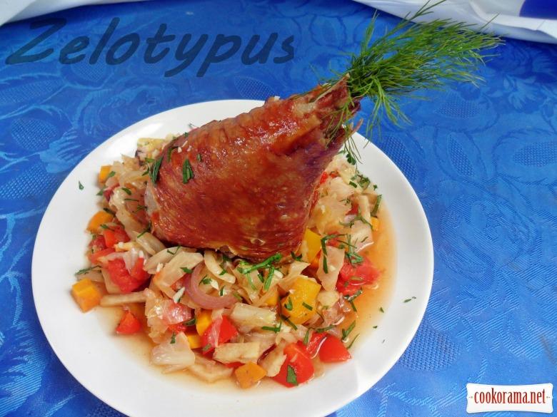 Подварак (Балканское блюдо из индейки с овощами)