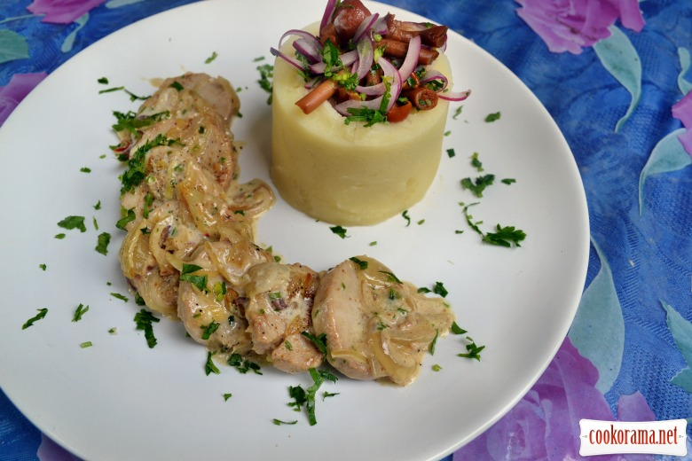 Бараньи яйца в сливочно-имбирном соусе