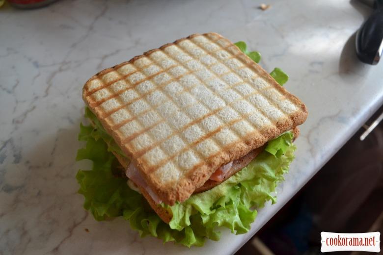 клаб сэндвич рецепт с яйцом и курицей