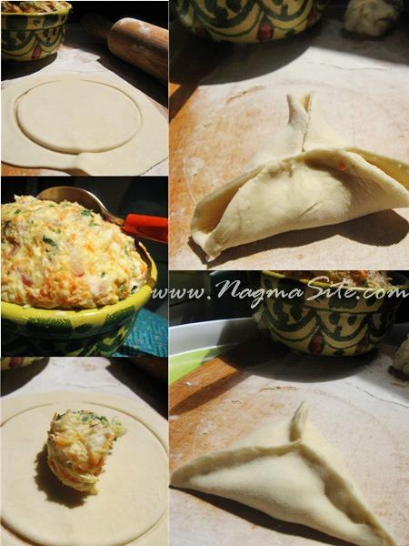 Самбуса домашняя с сырной начинкой