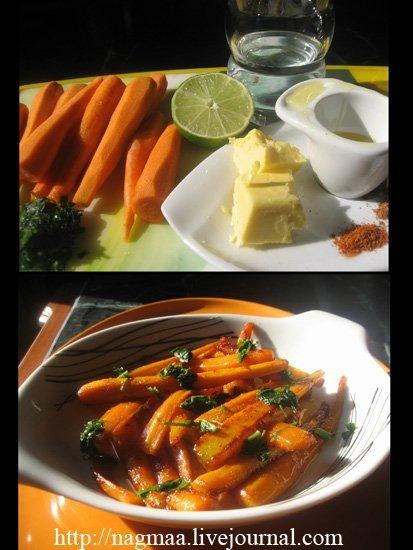 Глазированная морковь с корицей