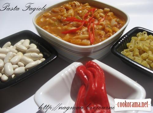 Суп с макаронами и фасолью (Pasta fagioli)