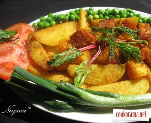 Картофель и тыква с куркумой