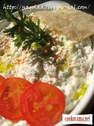 Діп з сиру з овочами по-єгипетські