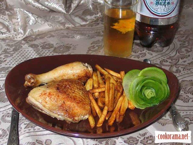 Смажені стегенця без олії