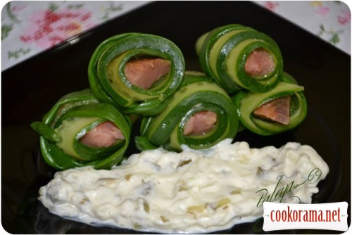 Salmon in cucumber