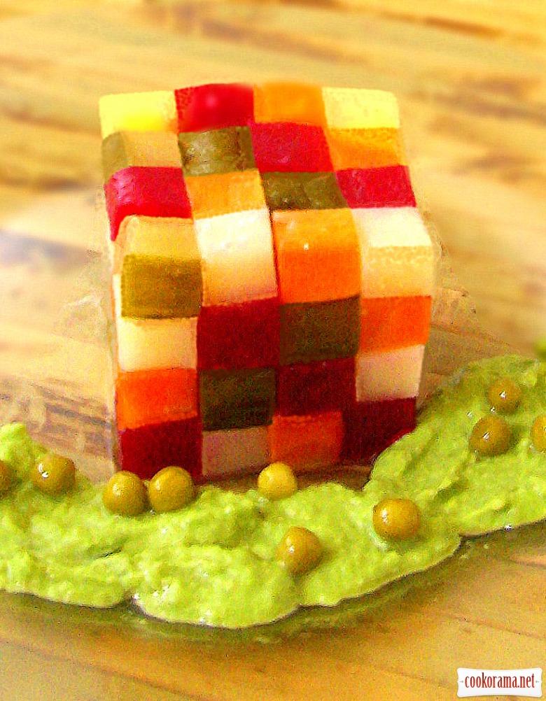 Винегрет «кубик-рубик» от Влада Пискунова