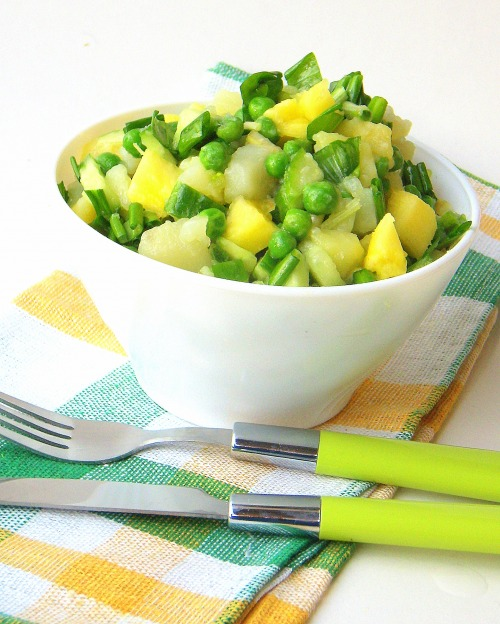 Salads with ramson