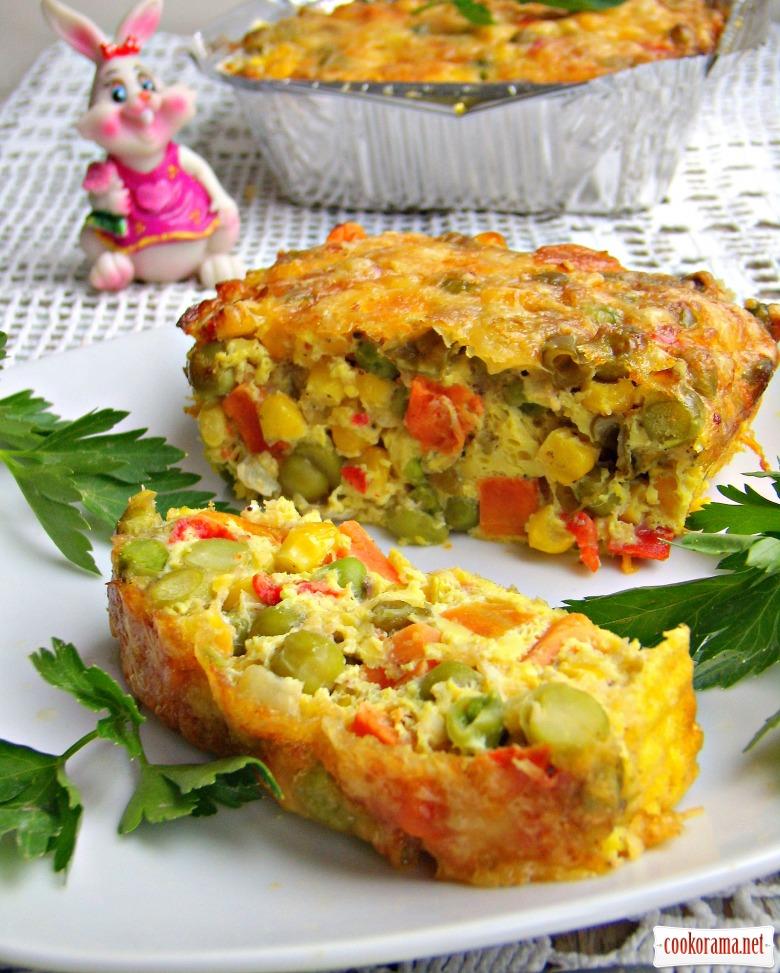 Праздничная овощная запеканка