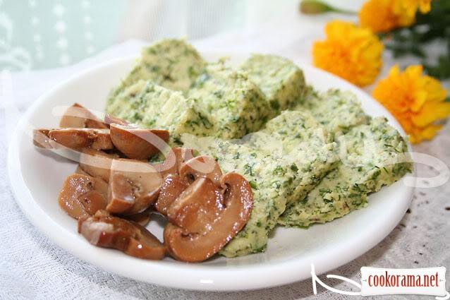 Грибной салат к сыру