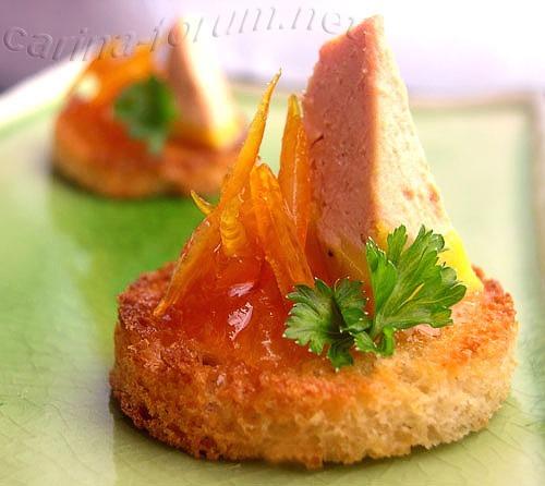 Крутоны с foie gras