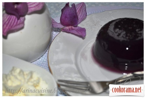 Желе из черного винограда
