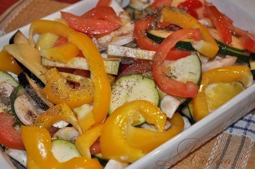 Грилованые овощи
