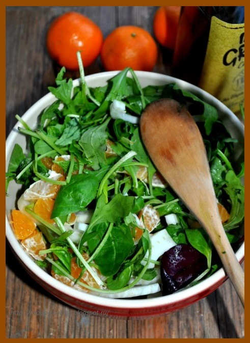 Салат из мандаринов с фенхелем