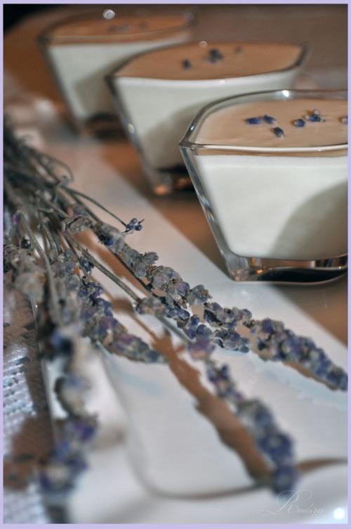 Lavender-ricotta dessert
