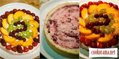 Бисквитно-ягодный торт