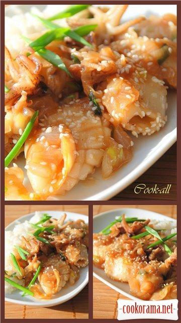 Вторые блюда из кальмаров