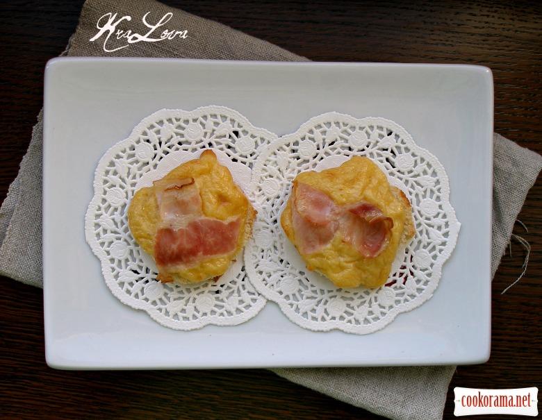 Сырные тосты с беконом