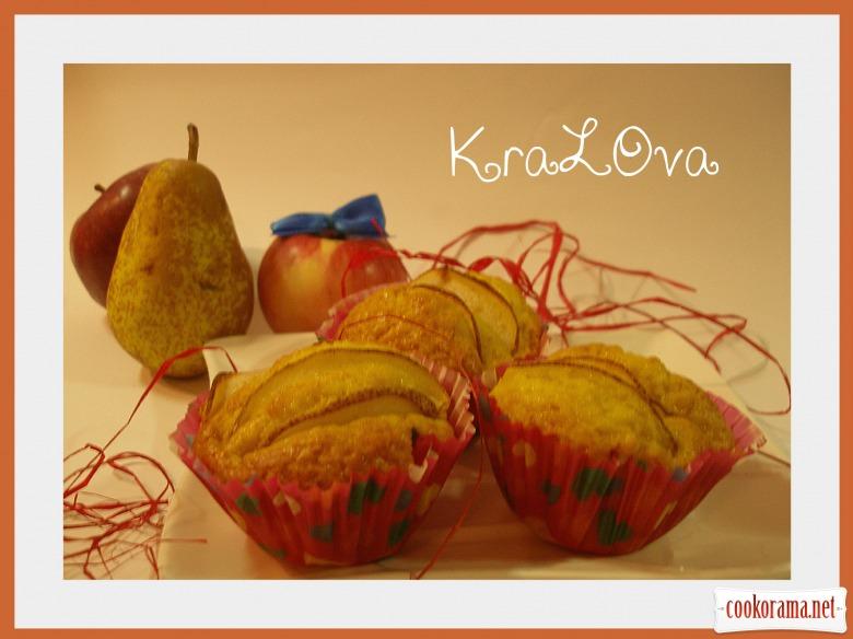 Яблочно-ванильные кексы с грушами