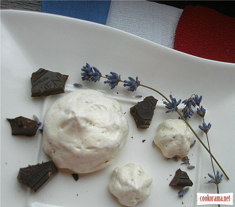 Лавандово-шоколадні безе