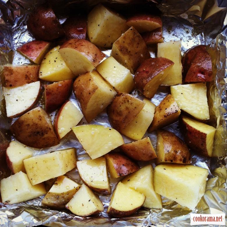 Картопля з лавандою