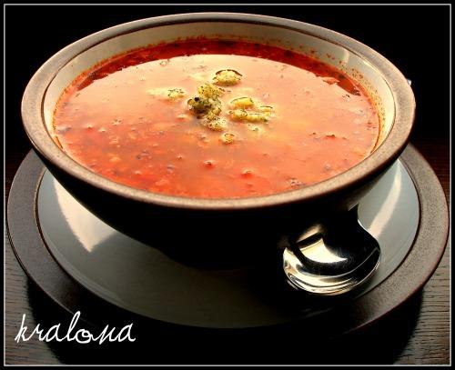 Гречано-томатний гострий суп