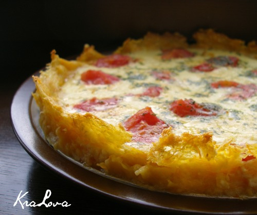 Vegetable quiche  (without dough)