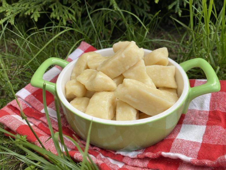 Ліниві вареники з картоплею і сиром