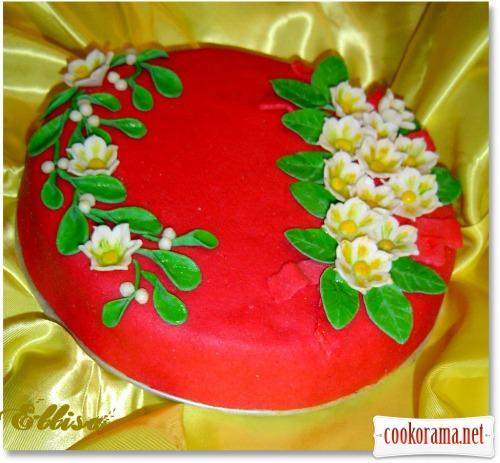 Торт «Зимові квіти»