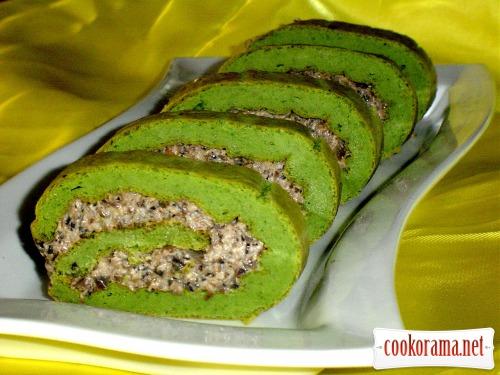 Закусочный рулет «Зеленый при зеленый...»