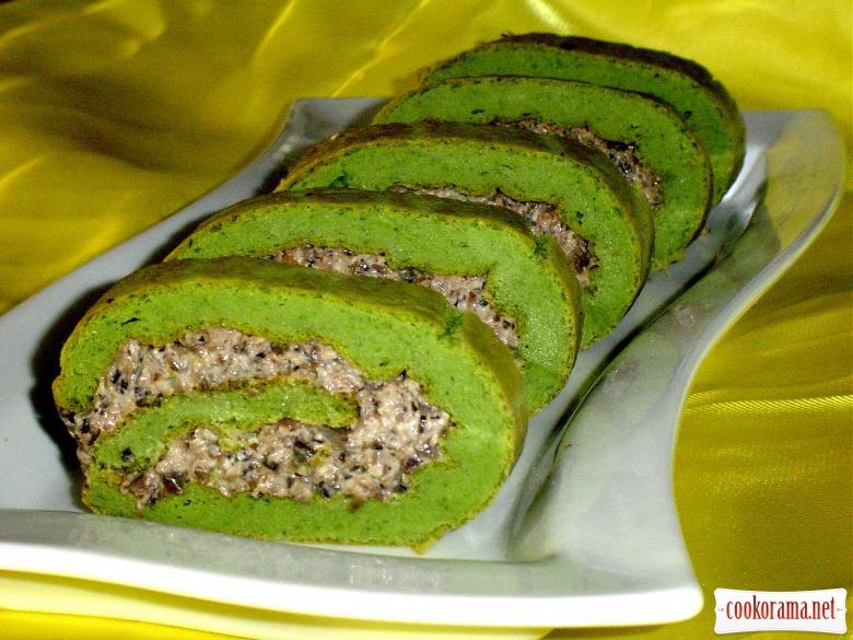 """Закусочный рулет """"Зеленый при зеленый..."""""""