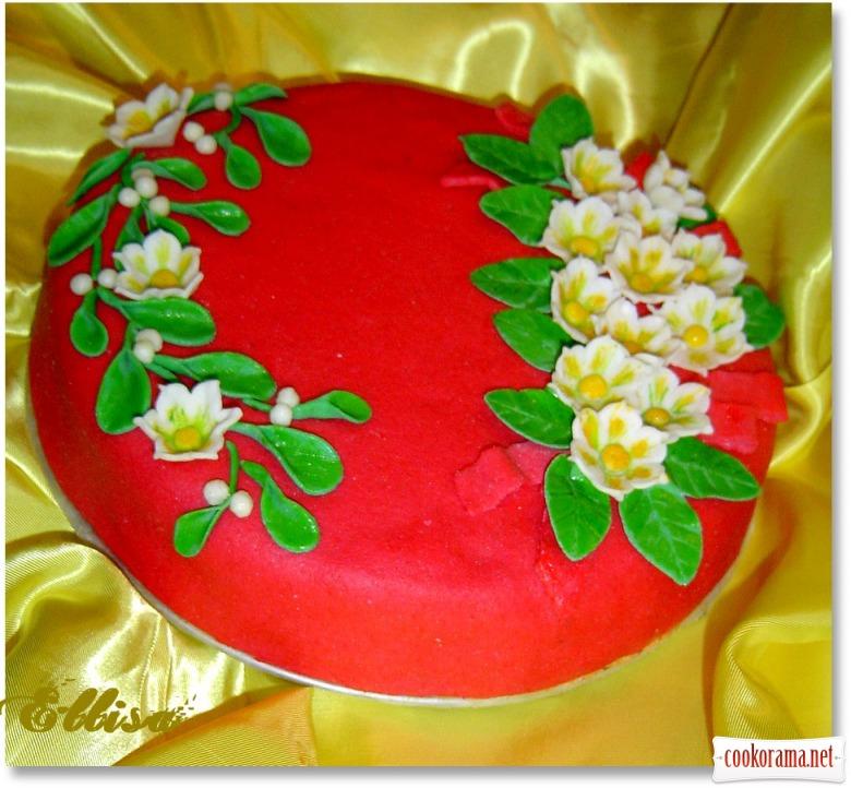 """Торт """"Зимові квіти"""""""