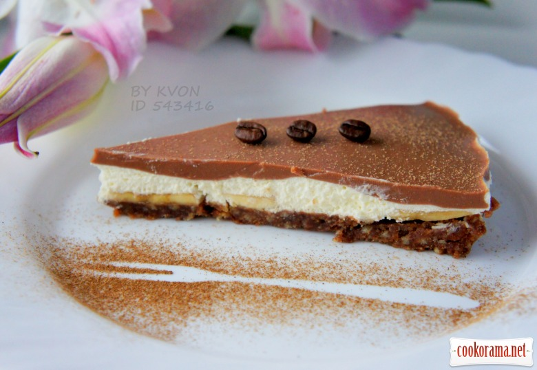 Шоколадно банановый чизкейк рецепт с фото
