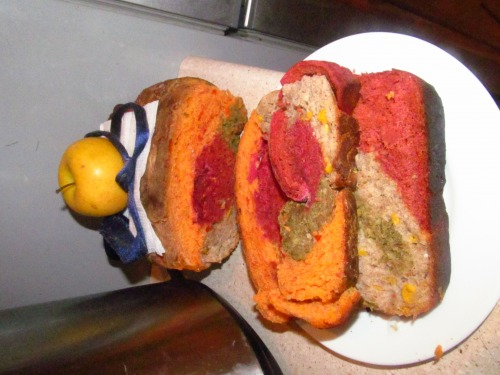 Coloured bread