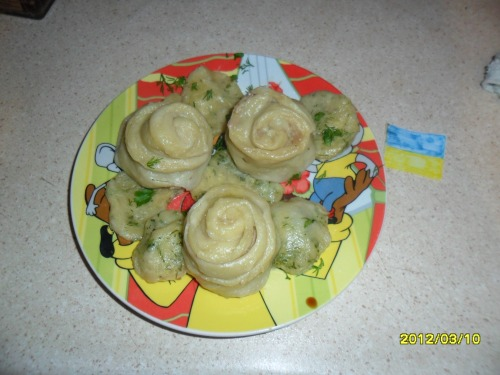 Bouquet from pelmeni