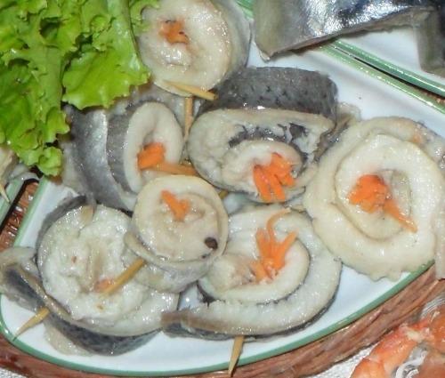 Рольмопс из селёдки с морковкой по-корейски
