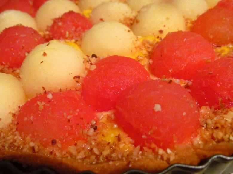 Тарт с арбузом и дыней- Tarta de melón y sandía