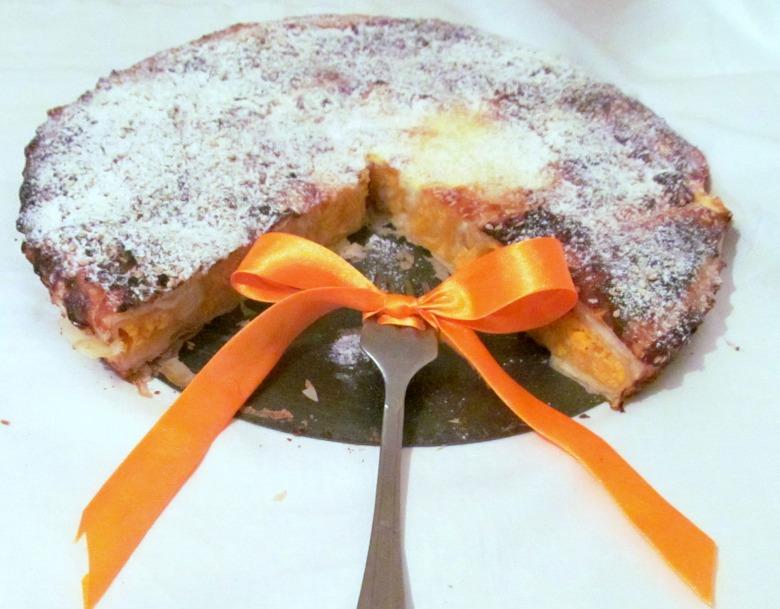 Пирог улитка с тыквой и творогом