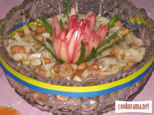 Салат з оселедця і квасолі