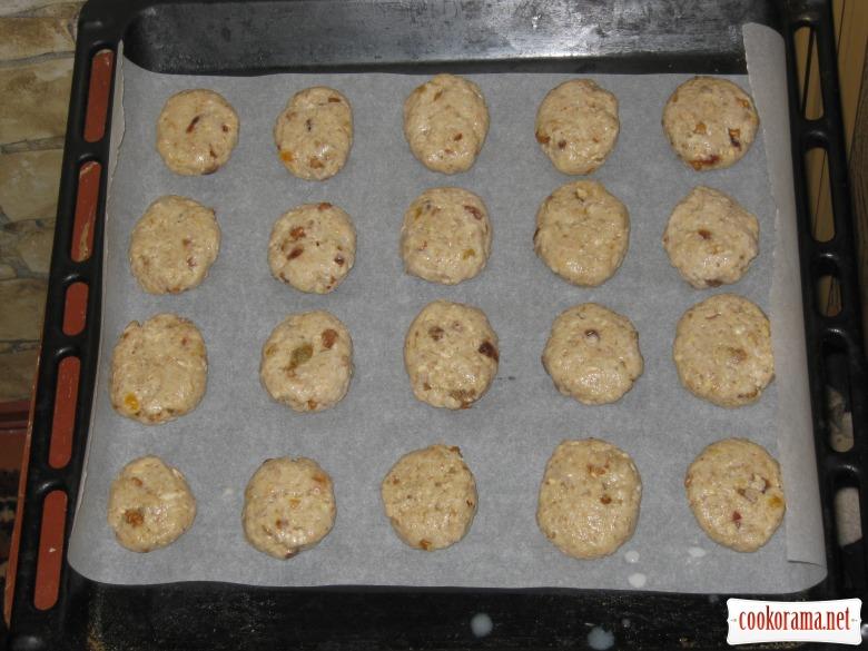 Овсяное постное печенье
