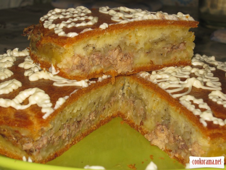 Быстрый пирог на маонезе